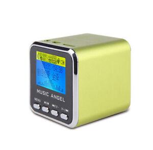 Music Angel MD08D LCD Clock Alarm AUX TF Play Mini FM Portable Digital Speakers