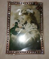 Taylor Avedon collectible Enamel Crystals Photo picture Frame snake g new