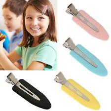4Pcs Women Seamless No Buckle Barrettes Hair Clips Salon Makeup Clip Q5M6