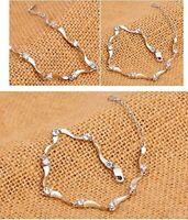 5.60Ct Real Moissanite Diamond Solitaire Tennis Bracelet 14K White gold Over