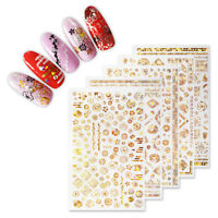 3D Stickers Nail Decals Rose Flower Multi-Pattern Nail Art  Decoration