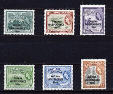 GUYANA 1966 DEFINITIVES SG378/383  MNH