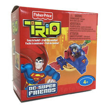 FISHER PRICE TRIO SUPERMAN SPACE SLED DC SUPER FRIENDS PLAY SET TOY