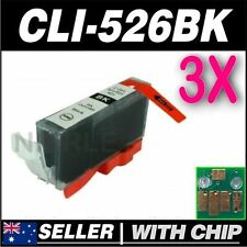 3x Black Ink for CANON CLI-526BK for iP4850 iP4950 iX6550 MG5150 MG5250 MG5350