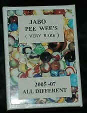 JABO PEE WEE MARBLES BOXED SET OF 24 RARE ALL DIFFERENT