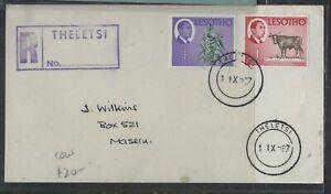 LESOTHO COVER (PP2004B) 1987 1/2C+1C COW REG THELETSI TO MASERU