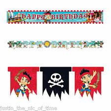 JAKE & THE NEVER LAND PIRATES Birthday Party Decorations BUNTINGS & BANNERS