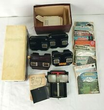 Huge Mixed Lot of 150+ Vintage View-Master Reels Library Case 4+ Viewers