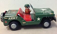 YONEYA YONE Tin JEEP Japan friction vintage toy US Army 23576801 1950's 1960's