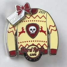Hard Rock Cafe New York pin Happy Holidays Christmas sweater discontinued