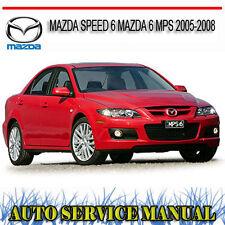 MAZDA SPEED 6 MAZDA 6 MPS 2005-2008 REPAIR SERVICE MANUAL ~ DVD