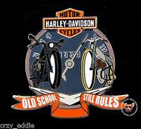 HARLEY DAVIDSON OLD SCHOOL STILL RULES BAR & SHIELD SPEEDOMETER VEST PIN