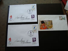 FRANCE - 3 enveloppes (2/1992) (1 non oblitere 2006) (cy12) french