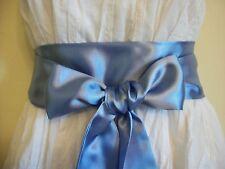 """2.5 """"allegati al"""" Fiordaliso blu in raso Sash Belt Self TIE Bow aggiornamento partito Prom Dress"""