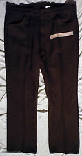 "Vtg Levis 517-6128 Brown Bootcut 40 X 30 Polyester Pants w 10"" Flared Leg"