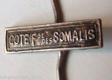 Agrafe Barrette médaille COTE FRANCAISE DES SOMALIS miniature 14 mm authentique