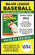 1952 Stan Musial Major League Baseball Guide Poster - Buy Any 2 Get 1 Free