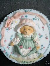 Cherished Teddies Hope Bear Round Wall Plaque 1994