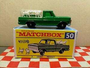 Matchbox Lesney No50  Kennel Truck in REPRO Box