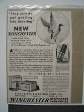Winchester Long Range Shot Shells Vintage Advertisement, Super W Speed