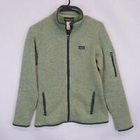 Patagonia Womens Better Sweater Full Zip Fleece Jacket Small Endive Green Mint S
