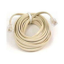 NEW Belkin Phone Line Cord, 15 metre 50ft Gold plating RJ11 - RJ11. F8V100-50-IV
