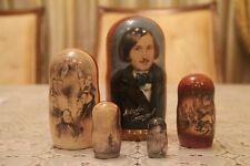 """Gogol famoso escritor ruso Matryoshka Muñeca Rusa apilamiento anidación muñeca 5pc"""" 7"""
