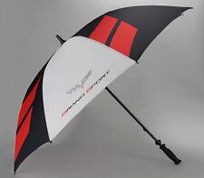 Golf Size Umbrella (2005-2013 C6 Corvette) Grand Sport Logo - Extra Large -Beach