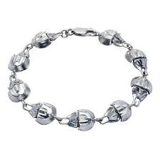 "Sterling Silver Horseshoe Crab 8"" Bracelet"