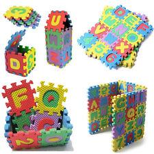 36PCS Soft Foam Mat Jigsaw Tiles Alphabet Numerals Baby Kids Educational Puzzle