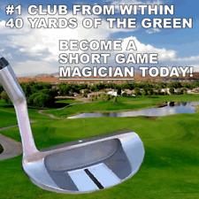 #1 CHIPPER UTILITY SQUARE WEDGE - Eliminates Fat & Thin Chip Strikes Golf Club
