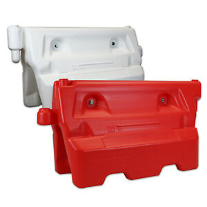 1-Meter Heavy Duty Water Filled Traffic Barrier Red White Road Street Safety