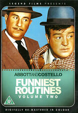 ABBOTT & COSTELLO Funniest Routines Volume 2 New but UNSEALED Reg 2  (Colour)