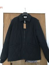 A.P.C. x LOUIS W EMIL QUILTED COTTON BLEND DARK NAVY JACKET BRAND NEW SIZE LARGE