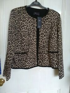 Marks and Spencer Animal Print Jacket Edge to Edge size 18 New