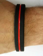 Armband Silikon unisex Größe thin red line dünne rote Linie Feuerwehr