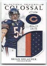 National Treasures Brian Urlacher Colossal Jumbo Game-Used Jersey Patch 14/25