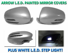 USA 06-08 W219 CLS Arrow LED Side Painted Silver Mirror Cover + LED Step Light