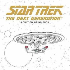 STAR TREK THE NEXT GENERATION ADULT COLORING BOOK NEW PAPERBACK BOOK