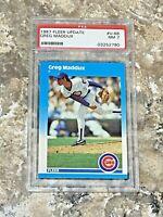 1987 Fleer Update Greg Maddux #U-68 PSA 7 RC Chicago Cubs Rookie Baseball Card
