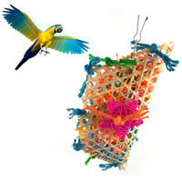 EE_ HK- Parrot Bird Pull Bites Climb Chew Toy Hanging Strip Rope Pet Cage Decor
