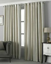 Riva Paoletti Hurlingham Eyelet Lined Curtains Champagne 66x90 (902) RRP £65