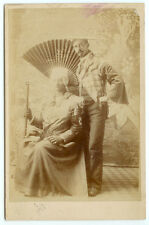 VINTAGE GAY INTEREST TRANSVESTITE FASHION: Man in Drag Cabinet Card