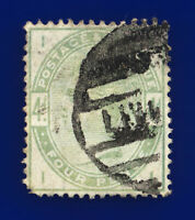 1884 SG192 4d Dull Green K22 II Part Liverpool Circular Parcel Cat £210 cslx