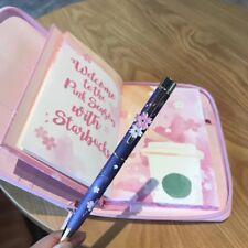 New Starbucks China 2018 Sakura Notebook Set With A Ballpoint Pen