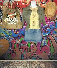 Boho Raggae Outfit Lot Bob Marley 7FAM Anthropologie Ed Hardy Music Festival M L