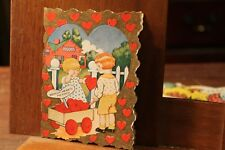 ca. 1890's Antique Valentine's Day Card Die Cut Whitney Made