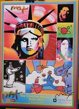 PETER MAX POSTER -2006 COLORADO SPRINGS FINE ARTS CENTER-FACSIMILE SIGNED
