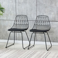 2Pcs Vintage Bertoia Style Knoll Wire Chair Mid Century Modern Home Furniture US