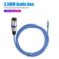 3m 3.5mm Stereo Male to XLR 3Pin Male Audio Microphone Adapter Cable Wire Tools